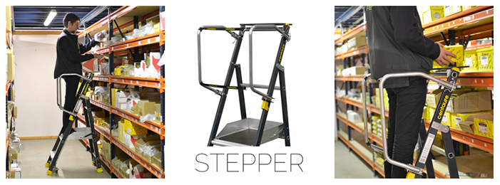 Stepper : Regale-ergonomische Plattform